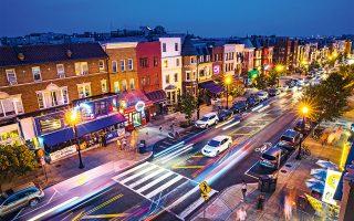 H γειτονιά Adams Morgan φημίζεται για τα εστιατόρια και τα μπαρ της. (Φωτογραφία: © Getty Images/Ideal Image)