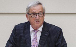 EU Commission President Jean-Claude Juncker addresses the Flemish regional parliament in Brussels on Wednesday, May 9, 2018. (AP Photo/Geert Vanden Wijngaert)