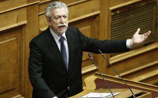 Ο υπουργός Δικαιοσύνης, Διαφάνειας και Ανθρωπίνων Δικαιωμάτων Σταύρος Κοντονής μιλάει στη συζήτηση επί της πρότασης δυσπιστίας της ΝΔ κατά της Κυβέρνησης στην Ολομέλεια της Βουλής, Αθήνα, Παρασκευή 15 Ιουνίου 2018. ΑΠΕ-ΜΠΕ/ΑΠΕ-ΜΠΕ/ΓΙΑΝΝΗΣ ΚΟΛΕΣΙΔΗΣ