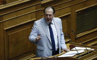 Φωτογραφία αρχείου που εικονίζει τον βουλευτή των ΑΝ.ΕΛ Γεώργιο Λαζαρίδη να μιλάει στη συζήτηση επί της πρότασης δυσπιστίας της ΝΔ κατά της Κυβέρνησης στην Ολομέλεια της Βουλής, Αθήνα, Παρασκευή 15 Ιουνίου 2018. Την ανεξαρτητοποίησή του από το κόμμα των Ανεξαρτήτων Ελλήνων ανακοίνωσε ο βουλευτής Β' Θεσσαλονίκης Γιώργος Λαζαρίδης, την Τρίτη 26 Ιουνίου 2018. ΑΠΕ-ΜΠΕ/ΑΠΕ-ΜΠΕ/ΓΙΑΝΝΗΣ ΚΟΛΕΣΙΔΗΣ