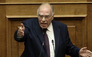 Ο πρόεδρος της Ένωσης Κεντρώων, Βασίλης Λεβέντης, μιλάει από το βήμα της Βουλής στη συζήτηση επί της πρότασης δυσπιστίας της Νέας Δημοκρατίας κατά της Κυβέρνησης, στην Ολομέλεια της Βουλής, Αθήνα, Σάββατο 16 Ιουνίου 2018. ΑΠΕ-ΜΠΕ/ ΑΠΕ-ΜΠΕ/ ΣΥΜΕΛΑ ΠΑΝΤΖΑΡΤΖΗ