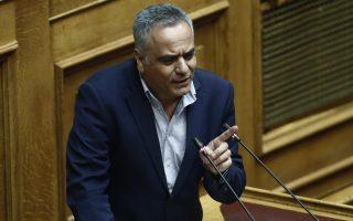 Ο υπουργός Εσωτερικών Παναγιώτης Σκουρλέτης μιλάει στη συζήτηση επί της πρότασης δυσπιστίας της ΝΔ κατά της Κυβέρνησης στην Ολομέλεια της Βουλής, Αθήνα, Παρασκευή 15 Ιουνίου 2018. ΑΠΕ-ΜΠΕ/ΑΠΕ-ΜΠΕ/ΓΙΑΝΝΗΣ ΚΟΛΕΣΙΔΗΣ