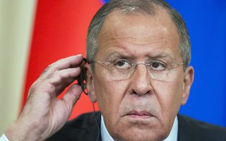 FILE - In this Monday, May 14, 2018, file photo, Russian Foreign Minister Sergey Lavrov prepares to take a questions during a news conference in Moscow, Russia. Russia's foreign ministry said in a statement on Wednesday that Lavrov would hold talks with North Korea's foreign policy chief to discuss bilateral issues as well as the overall situation on the Korean peninsula. (AP Photo/Alexander Zemlianichenko, File)