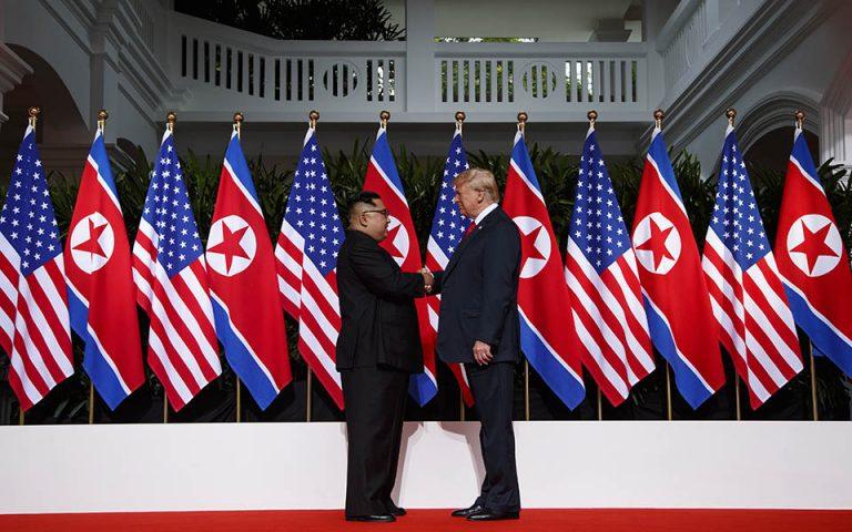 Τραμπ: Οι συνομιλίες με την Πιονγκγιάνγκ «πηγαίνουν καλά»