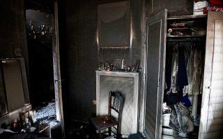 Το αποτύπωμα της φωτιάς στο εσωτερικό ενός σπιτιού στο Μάτι.