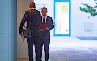 Ο Σοσιαλδημοκράτης υπουργός Οικονομικών Ολαφ Σολτς ήταν επικεφαλής του υπουργικού συμβουλίου αυτήν την εβδομάδα, που η Μέρκελ απουσίαζε.