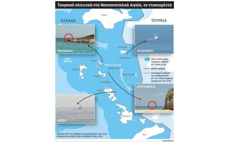 Απλώνονται τα τουρκικά γκρίζα δίχτυα στο Αιγαίο
