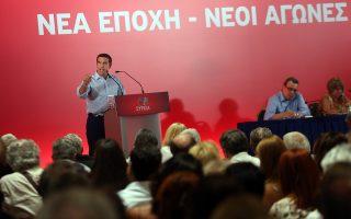 «Χρειαζόμαστε ένα κόμμα δυνατό, ενωμένο, ανοικτό στην κοινωνία», τόνισε ο πρωθυπουργός Αλ. Τσίπρας.