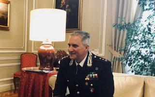 O αντισυνταγματάρχης Ρομπέρτο Κολαζάντι του ειδικού σώματος καραμπινιέρων για την προστασία της πολιτιστικής κληρονομιάς.