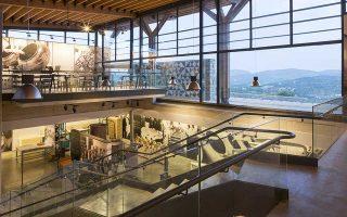 Το Μουσείο Μαστίχας βρίσκεται στα παραδοσιακά μαστιχοχώρια της Χίου. Αποψη των εσωτερικών χώρων.