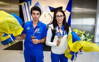 Η Μαρία Μπελιμπασάκη και ο Δημήτρης Τσιάμης κατέκτησαν τα δύο τελευταία μετάλλια για την Ελλάδα στο Ευρωπαϊκό Πρωτάθλημα στίβου του Βερολίνου.