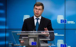 «Ζητούμε να αποτελέσει προτεραιότητα η Ενωση Αγορών Κεφαλαίων, όχι μόνο στα λόγια, αλλά και στην πράξη. Πρόοδος μπορεί να επιτευχθεί μέσω της υλοποίησης των νομοθετικών μέτρων που έχουν προταθεί», δήλωσε ο Βάλντις Ντομπρόβσκις, ο αντιπρόεδρος της Ευρωπαϊκής Επιτροπής, υπεύθυνος για το ευρώ.