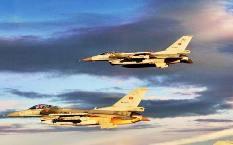 Δύο υπερπτήσεις τουρκικών μαχητικών