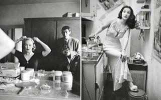 Ο Στάνλεϊ Κιούμπρικ φωτογραφίζει την ηθοποιό και τηλεοπτική παρουσιάστρια Φέι Εμερσον – μαζί και τον εαυτό του (1950). Δεξιά, η Ρόζμαρι Γουίλιαμς, πρωταγωνίστρια του φωτορεπορτάζ «Showgirl» (1948).