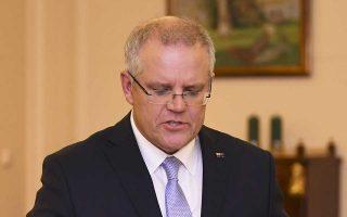 Ο Σκοτ Μόρισον αναλαμβάνει τα καθήκοντα του 30ού πρωθυπουργού της Αυστραλίας.