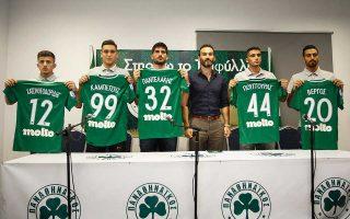 Την ώρα που οι διοικητικές εξελίξεις τρέχουν στον Παναθηναϊκό, παρουσιάστηκαν οι νέοι παίκτες.
