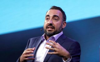 FILE PHOTO: Facebook Chief Security Officer (CSO) Alex Stamos talks about security for political campaigns and elections as he gives a keynote address during the Black Hat USA information security conference in Las Vegas, Nevada, U.S. July 26, 2017. REUTERS/Steve Marcus/File Photo