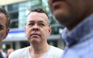 Andrew Craig Brunson, an evangelical pastor from Black Mountain, North Carolina, arrives at his house in Izmir, Turkey, Wednesday, July 25, 2018 An American pastor who had been jailed in Turkey for more than one and a half years on terror and espionage charges was released Wednesday and will be put under house arrest as his trial continues. Andrew Craig Brunson, 50, an evangelical pastor originally from Black Mountain, North Carolina, was let out of jail to serve home detention because of