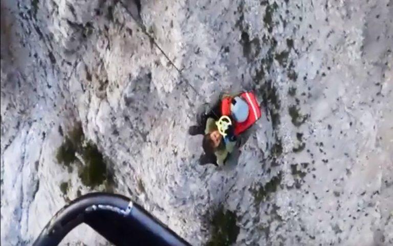 Εντυπωσιακό βίντεο από τη διάσωση Γάλλων ορειβατών στον Ταΰγετο