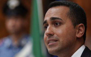 Italian Minister for Economic Development Luigi Di Maio talks to reporters during a press conference, in Rome, Thursday, Aug. 23, 2018. Di Maio illustrated possible irregularities of a bid by Indian industry giant ArcelorMittal to buy Ilva, Europe's largest steel output plant, as per Italian state lawyers opinion. (AP Photo/Andrew Medichini)