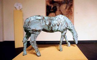 «Αλογο», 2008, χυτεμένος ορείχαλκος. Του Μίλτου Παπαστεργίου.