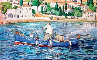 Ο Τζέιμς Φουτ ζωγραφίζει θέματα που σε κάνουν να ερωτεύεσαι την Ελλάδα. Η έκθεσή του στις Σπέτσες θα κρατήσει έως τις 19 Αυγούστου.