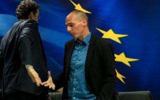 Ο υπουργός Οικονομικών Γιάνης Βαρουφάκης (Δ)   με τον πρόεδρο του Eurogroup και υπουργό Οικονομικών της  Ολλανδίας, Jeroen Dijsselbloem (Α), κάνουν κοινές δηλώσεις μετά την  συνάντησή τους, την Παρασκευή 30 Ιανουαρίου 2015, στο Υπουργείο.  ΑΠΕ-ΜΠΕ/ΑΠΕ-ΜΠΕ/ΣΥΜΕΛΑ ΠΑΝΤΖΑΡΤΖΗ