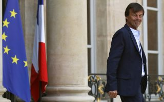 French Minister of the Ecological and Social Transition Nicolas Hulot leaves after the weekly cabinet meeting at the Elysee Palace in Paris, Wednesday, May 23, 2018. (AP Photo/Francois Mori)