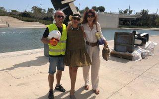 Επί το έργον: Ντάντε Μπενεντέτι, Μάγδα Μπαλτογιάννη και Σοφία Βάρη στο ΚΠΙΣΝ.