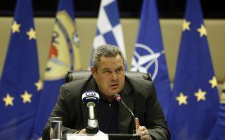 Ο υπουργός Εθνικής Άμυνας  Πάνος Καμμένος μιλάει στη συνέντευξη τύπου του υπουργού για την συνδρομή των ενόπλων δυνάμεων στην αντιμετώπιση των μεγάλων πυρκαγιών που ΄'επληξαν την Αττική, Τετάρτη 25  Ιουλίου 2018. ΑΠΕ-ΜΠΕ/ΑΠΕ-ΜΠΕ/ΑΛΕΞΑΝΔΡΟΣ ΒΛΑΧΟΣ