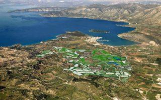 Η επένδυση για το Kilada Hills πραγματοποιείται σε έκταση 2.100 στρεμμάτων στην ευρύτερη περιοχή της Κοιλάδας, κοντά στο Πόρτο Χέλι. Στη φωτογραφία, μακέτα του έργου που παρουσίασε πρόσφατα η εταιρεία ανάπτυξης.