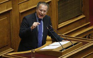 Ο βουλευτής της ΝΔ Γιώργος Κουμουτσάκος μιλάει από το βήμα της Βουλής στη συζήτηση για τη πρόταση δυσπιστίας που κατέθεσε ο πρόεδρος της ΝΔ Κυριάκος Μητσοτάκης στην αίθουσα της Ολομέλειας της Βουλής, Πέμπτη 14 Ιουνίου 2018. ΑΠΕ-ΜΠΕ/ΑΠΕ-ΜΠΕ/ΑΛΕΞΑΝΔΡΟΣ ΒΛΑΧΟΣ