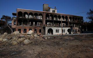 Το Λύρειο Ορφανοτροφείο, στον οικισμό Νέο Βουτζά, που καταστράφηκε ολοκληρωτικά από την φονική πυρκαγιά της 23ης Ιουλίου, 35 χλμ από την Αθήνα, Τετάρτη 8 Αυγούστου 2018.α ΑΠΕ-ΜΠΕ/ΑΠΕ-ΜΠΕ/ΟΡΕΣΤΗΣ ΠΑΝΑΓΙΩΤΟΥ