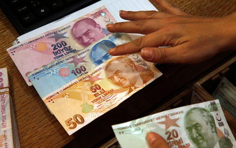 Υποχωρεί ξανά η τουρκική λίρα έναντι του δολαρίου