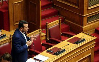 Ο υπουργός ΨΗΠΤΕ Νίκος Παππάς (Α) απαντά σε επίκαιρη ερώτηση της βουλευτού της ΝΔ Αννας Μισαέλ Ασημακοπούλου , στη σημερινή  συζήτηση επίκαιρων ερωτήσεων στην Ολομέλεια της Βουλής , Παρασκευή 8 Ιουνίου 2018. ΑΠΕ-ΜΠΕ/ΑΠΕ-ΜΠΕ/Αλέξανδρος Μπελτές