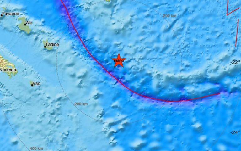 Σεισμός 7 Ρίχτερ κοντά στη Νέα Καληδονία