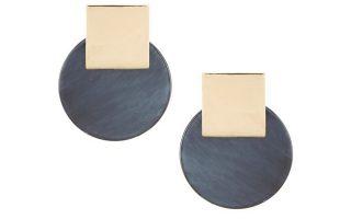 Γεωμετρικά σκουλαρίκια σε γκρι με χρυσό €17,20