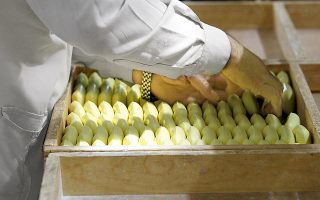 A worker sorts soap at the I.C.A. Soap Factory In Russaifah, Jordan Saturday March 15, 2003 ready to be shipped to Iraq under the food for oil program. War and the suspension of the United Nations oil-for-food program have crippled shipments to Iraq by manufacturers in Jordan, Egypt or Syria that supplied primary necessities -- processed food, medication, household products, and construction