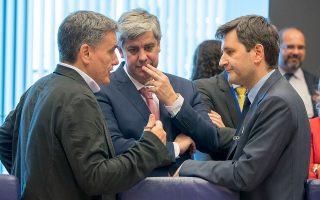 Ευκλείδης Τσακαλώτος, Μάριο Σεντένο και Γιώργος Χουλιαράκης στο Eurogroup του Ιουνίου, όπου η χώρα μας ανέλαβε μια σειρά από δεσμεύσεις. Οι δανειστές έρχονται τον Σεπτέμβριο στην Αθήνα για τον καθιερωμένο έλεγχο.