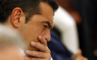 Ο πρωθυπουργός, Αλέξης Τσίπρας παρακολουθεί την ομιλία του υπουργού Εσωτερικών Πάνου Σκουρλέτη κατά την παρουσίαση του νέου σχεδίου για την Πολιτική Προστασία, την Πέμπτη 9 Αυγούστου 2018, στο Υπουργείο Προστασίας του Πολίτη.  ΑΠΕ-ΜΠΕ/ΑΠΕ-ΜΠΕ/ΑΛΕΞΑΝΔΡΟΣ ΒΛΑΧΟΣ