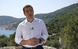 Ο πρωθυπουργός Αλέξης Τσίπρας στο τηλεοπτικό διάγγελμα για την έξοδο της χώρας από τα Μνημόνια την Τρίτη 21 Αυγούστου 2018. (EUROKINISSI/ΓΡΑΦΕΙΟ ΤΥΠΟΥ ΠΡΩΘΥΠΟΥΡΓΟΥ/ANDREA BONETTI)