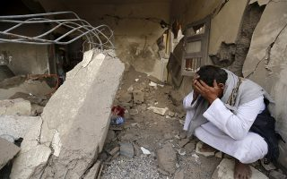 A man who lost his relatives in a Saudi-led air strike cries at the site of the air strike in Yemen's capital Sanaa September 21, 2015. More than 4,500 Yemeni have been killed since the Saudi-led alliance began military operations in March, in what they said was an attempt to stop the Iranian-allied Houthi group from expanding in Yemen and to restore President Abd-Rabbu Mansour Hadi, who had been pushed into exile in Saudi Arabia. REUTERS/Khaled Abdullah