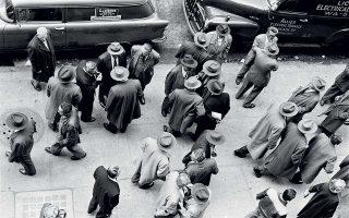 Aνδρες σε πηγαδάκια, Νέα Υόρκη, 1955.