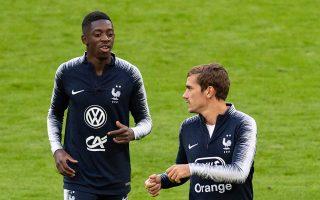 Οι πρωταθλητές Ευρώπης Γκριεζμάν και Ντεμπελέ θα αντιμετωπίσουν απόψε την αρνητική έκπληξη του περασμένου Euro, Γερμανία.