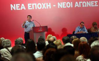Ο κ. Αλέξης Τσίπρας (εδώ, σε παλαιότερη ομιλία του στην Κεντρική Επιτροπή του ΣΥΡΙΖΑ) προτίθεται να στείλει έμμεσο μήνυμα προς όλους ότι ο ΣΥΡΙΖΑ έχει εγκαταλείψει το αυστηρά «αριστερό» του πρόσημο και κινείται πλέον και στον χώρο της Κεντροαριστεράς.