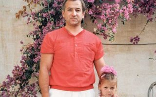 Ο Σεργκέι Σκριπάλ με την κόρη του Γιούλια στις αρχές της δεκαετίας του 1980.