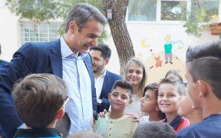 Ο κ. Μητσοτάκης παρευρέθη χθες στον αγιασμό στο Ειδικό Σχολείο ΕΕΕΕΚ στο Νταού Πεντέλης και επισκέφθηκε δύο σχολεία στη Ραφήνα.