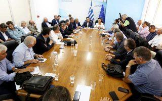 Ο υπουργός Εσωτερικών Αλέξης Χαρίτσης συναντήθηκε χθες με το διοικητικό συμβούλιο της Κεντρικής Ενωσης Δήμων Ελλάδας.