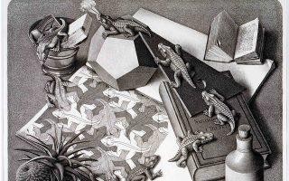 Τα «αδιανόητα» σχήματα του Ελβετού ζωγράφου Μαουρίτς Κορνέλις Εσερ εμπνέονται από τα παράδοξα των μαθηματικών.