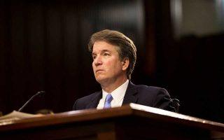 Ο υποψήφιος ανώτατος δικαστής Μπρετ Κάβανο καταθέτει ενώπιον της Γερουσίας στις 6 Σεπτεμβρίου.